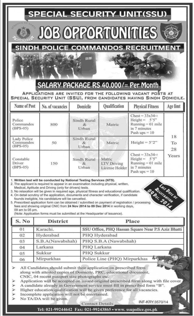 jobs in sindh police