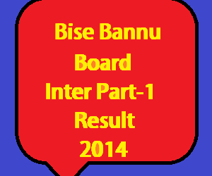 bannu board inter part 1 result