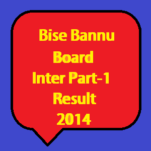 bannu board inter part 1 result