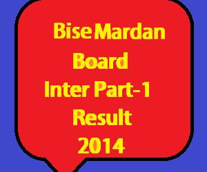 mardan board inter part 1 result