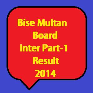Multan board inter part 1 result 2014