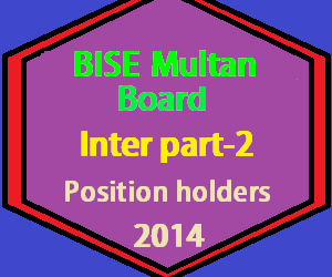 bise multan 12th class position holders