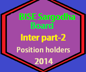 sargodha board inter position holders 2014