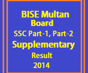 Multan ssc supply result 2014
