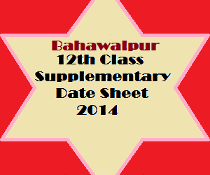 BWP_12th_class_supply_datesheet_2014