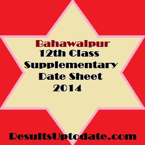 BWP_12th_class_supply_datesheet_2014