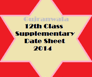 GRW_12th_class_supply_datesheet_2014