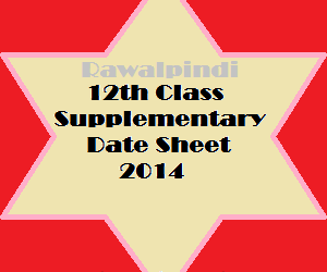 RWP_12th_class_supply_datesheet_2014
