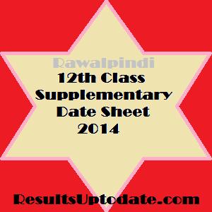 RWP_12th_class_supply_datesheet_2014