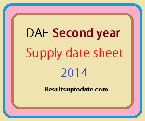 DAE Second year supply date sheet