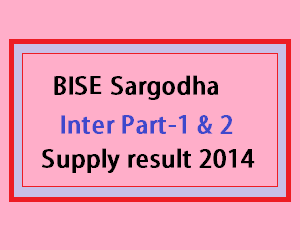 Sargodha supply result 2014