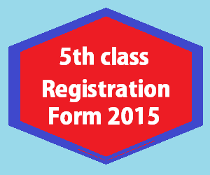 registration form for 5th class 2015