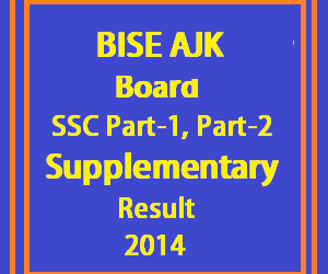 ajk board matric supply result 2014